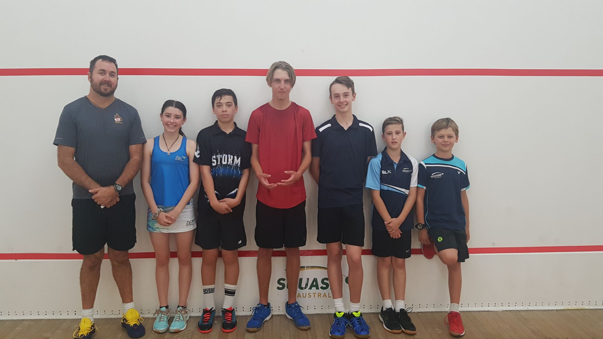 Juniors - standing front wall with John White